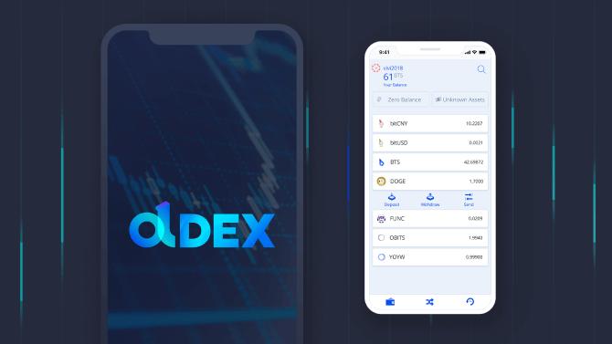 DEX mobile wallet
